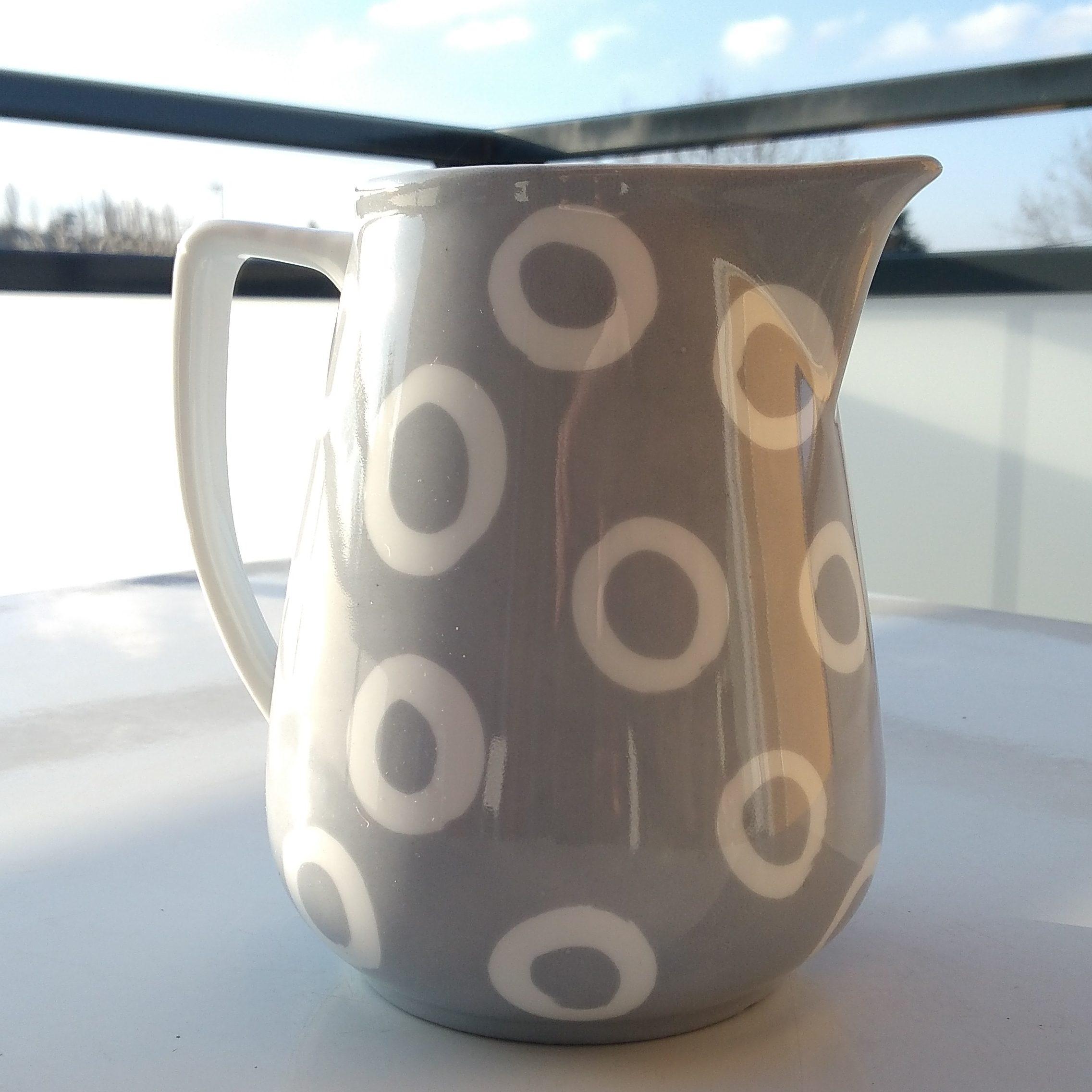 pot porcelaine peint main