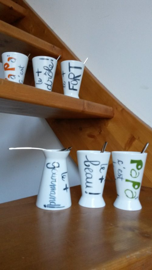 Tasse-coquetier porcelaine Papa