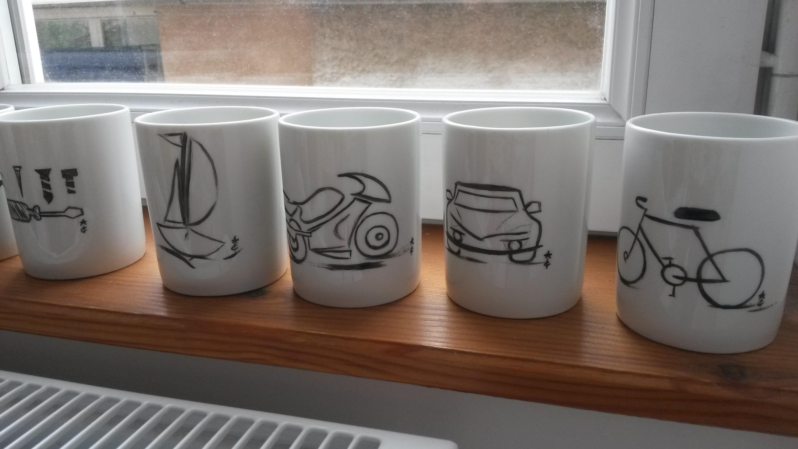 Tasse café porcelaine Papa