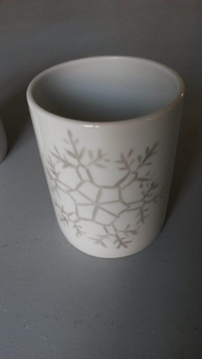 tasse porcelaine crystal