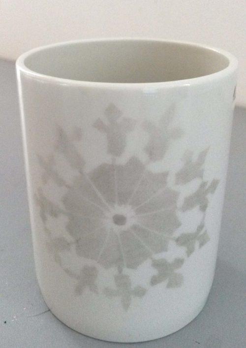 mug porcelaine crystal