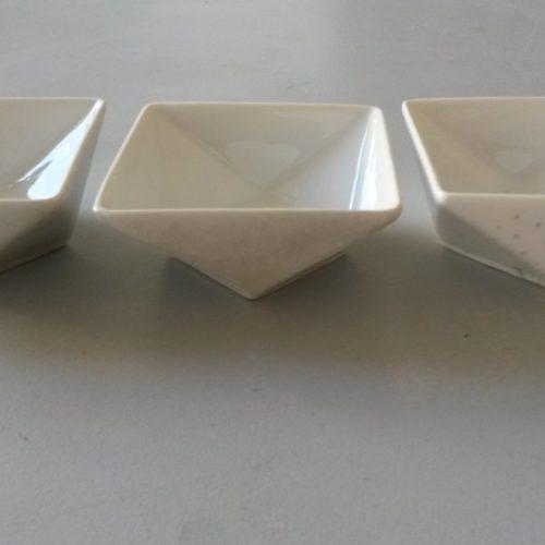 Coupelle porcelaine argent