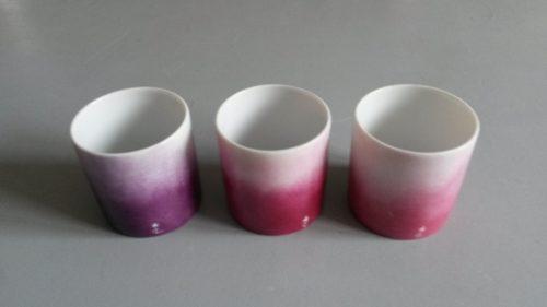tasse café porcelaine rose