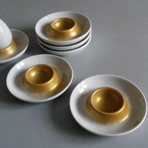 coquetier porcelaine or