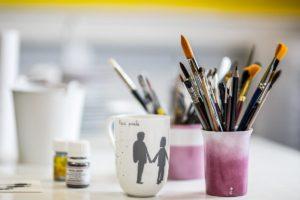 cours peinture lyon, atelier créatif Lyon, artisanat d'art