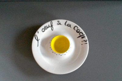 coquetier l'œuf à la coque