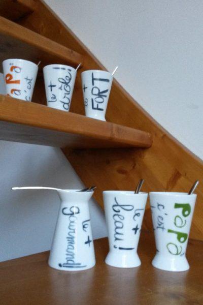 collection de mugs thème papa