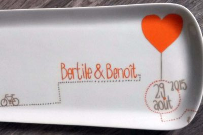 plat à cake pour le mariage Bertile et Benoit