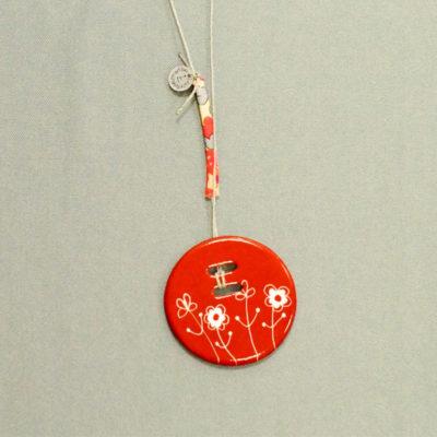 pendentif rond, collection bucolique,brun mars