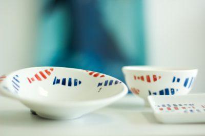porcelaine peint à la main collection aquatic