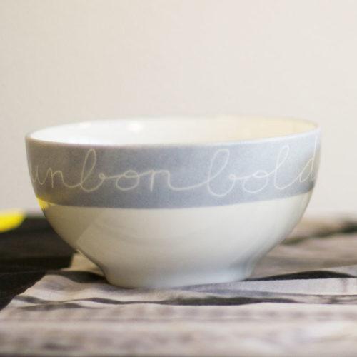 Bol à déjeuner en porcelaine, collection graphik