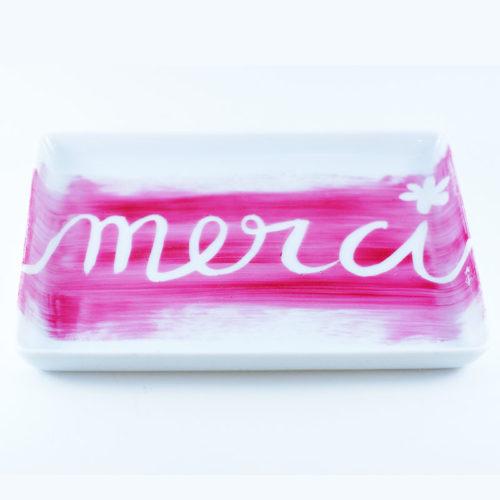 plat mini en porcelaine fine peinte à la main