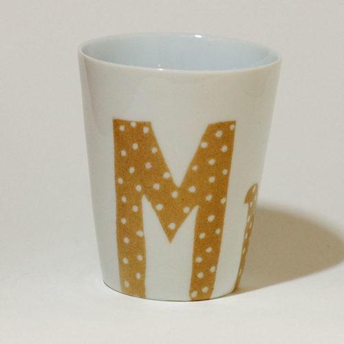 gobelet en porcelaine graphique Madame