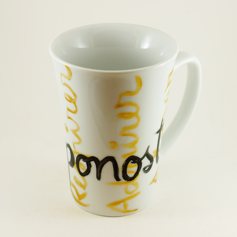 mug conique en porcelaine, collection j'aime ma ville