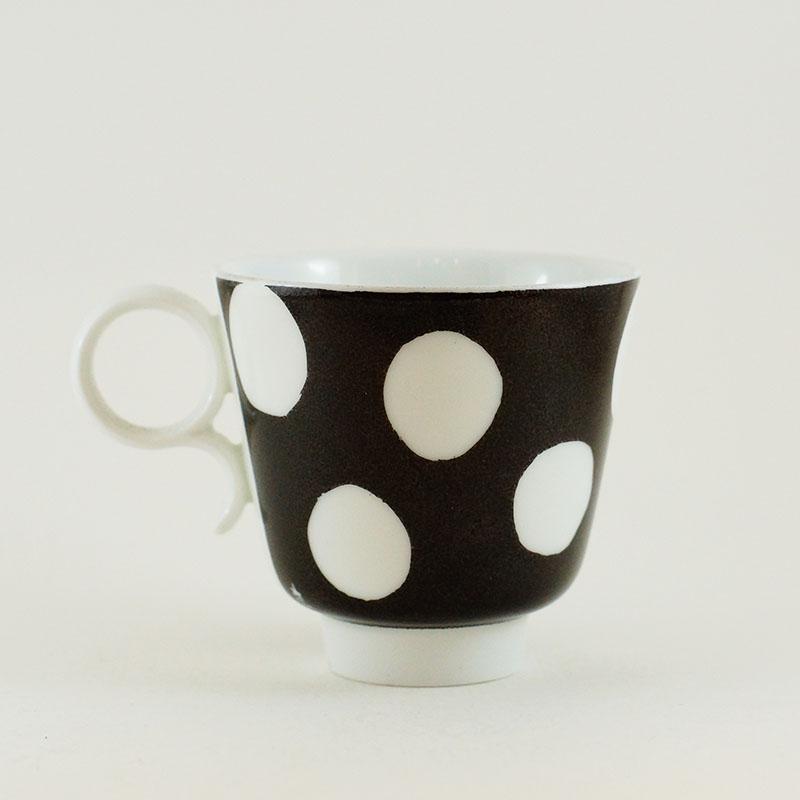 tasse à café en porcelaine de limoges peint à la main